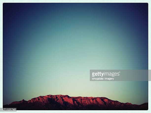 mobilestock mountain sunset landscape - sandia mountains stock photos and pictures