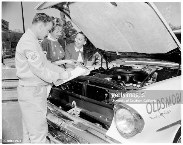 Mobilgas run girl drivers 22 March 1957 Gil HoldenJerrie SparksMopsy PaganMarilyn MillerMillie SahakianLorraine BellJune GalbraithAna Mae OvermanMary...