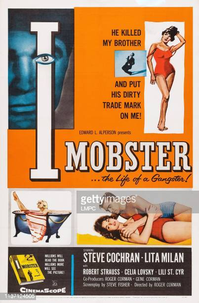 I Mobster poster US poster art left inset Lili St Cyr right inset Lita Milan Steve Cochran 1958