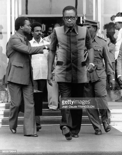 Mobutu Sese Seko le 22 juillet 1978 au Sommet de l'organisation de l'unité africaine à Khartoum Soudan