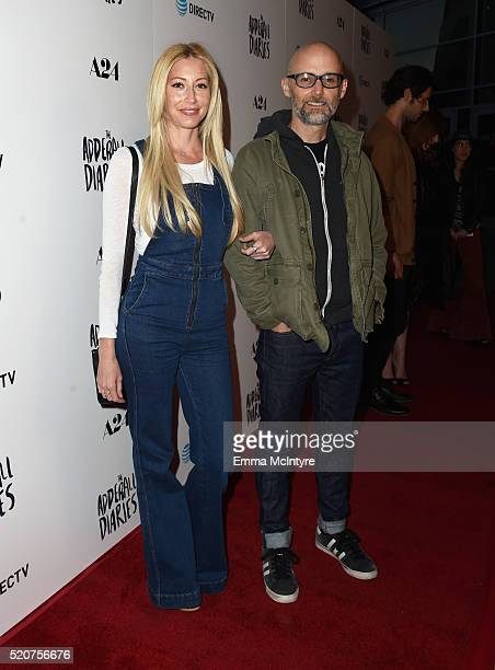 Moby and guest attend A24/DIRECTV's 'The Adderall Diaires' Premiere at ArcLight Hollywood on April 12 2016 in Hollywood California