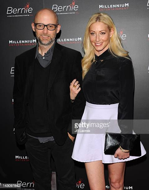 Moby and Julie Mintz arrive at 'Bernie' Premiere held at ArcLight Cinemas on April 18 2012 in Hollywood California