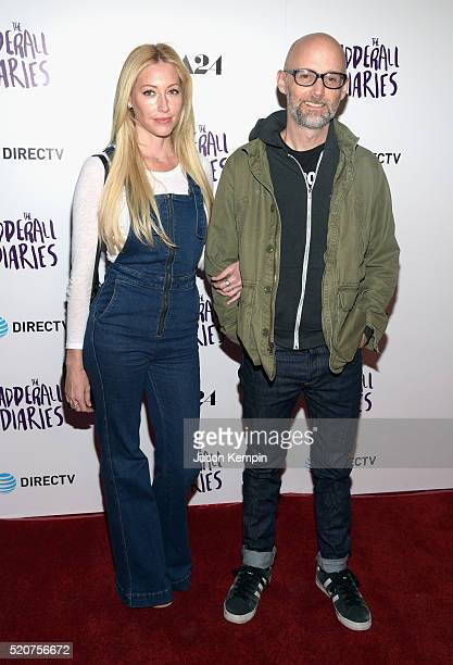 Moby and Julie Mintz attend A24/DIRECTV's The Adderall Diaires Premiere at ArcLight Hollywood on April 12 2016 in Hollywood California