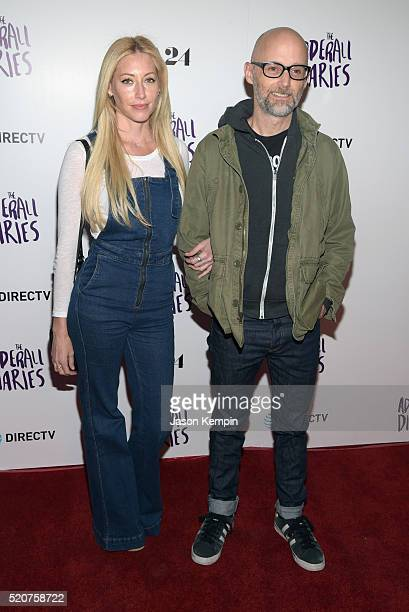 Moby and Julie Mintz attend A24/DIRECTV's 'The Adderall Diaires' Premiere at ArcLight Hollywood on April 12 2016 in Hollywood California