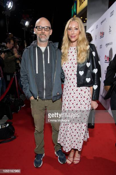 Moby and Julie Mintz attend the premiere of Amazon Studios' Suspiria at ArcLight Cinerama Dome on October 24 2018 in Hollywood California