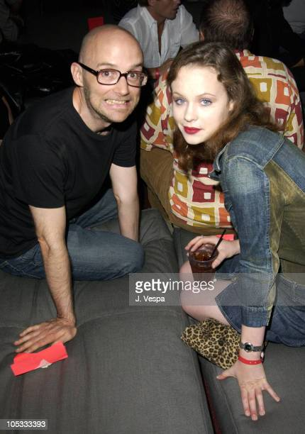 Moby and Thora Birch during Smirnoff Ice's Area2 Launch Party at Downtown Standard Hotel in Los Angeles California United States