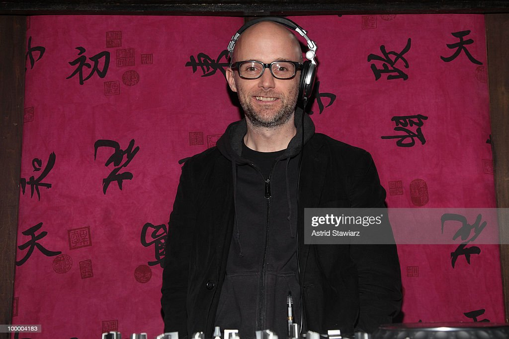 Moby attends Anthology Film Archives 40th Anniversary 'Return to the Pleasure Dome' celebration at the Hiro Ballroom at The Maritime Hotel on May 19, 2010 in New York City.
