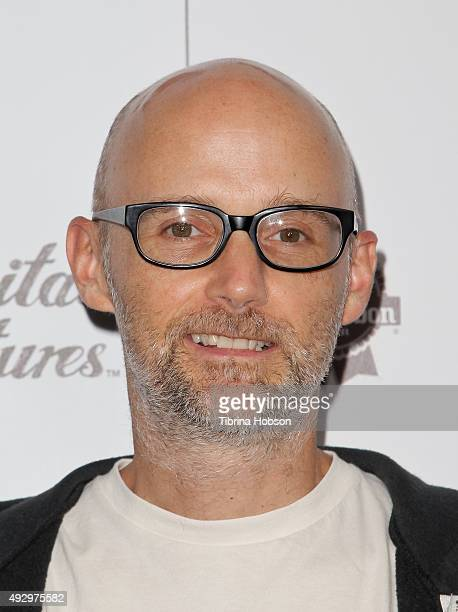 Moby attends the premiere of 'All Things Must Pass' at Harmony Gold Theatre on October 15 2015 in Los Angeles California