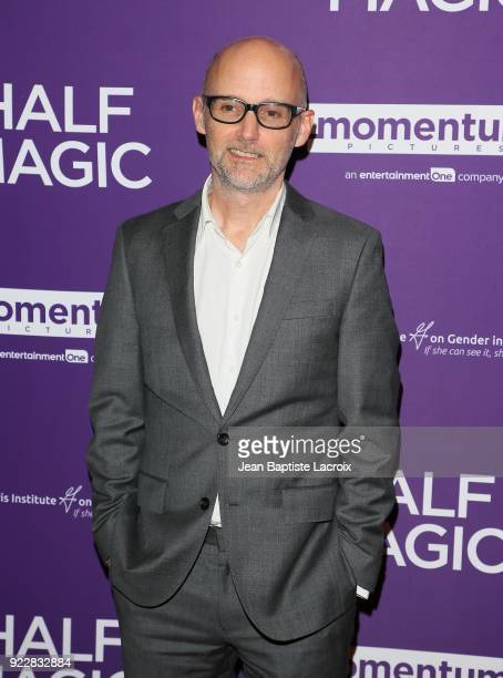 Moby attends the premiere of Momentum Pictures' 'Half Magic' at The London West Hollywood on February 21 2018 in West Hollywood California