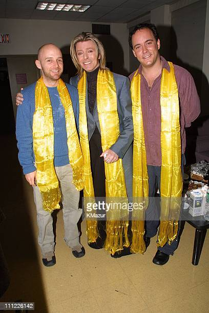 Moby David Bowie Dave Matthews during Tibet House Benefit Concert 2001 at Carnegie Hall in New York City New York United States