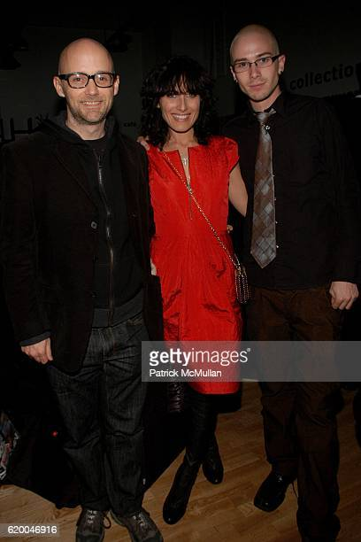 Moby Lisa Edelstein and Elias Comfort attend KolDesign and BoConcept's annual Holiday party at BoConcept on December 16 2008 in New York City