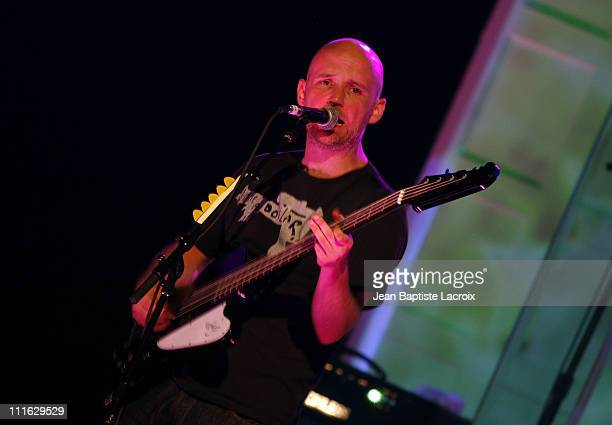 Moby performs at the Malibu Performing Arts Center on July 31 2008 in Malibu California