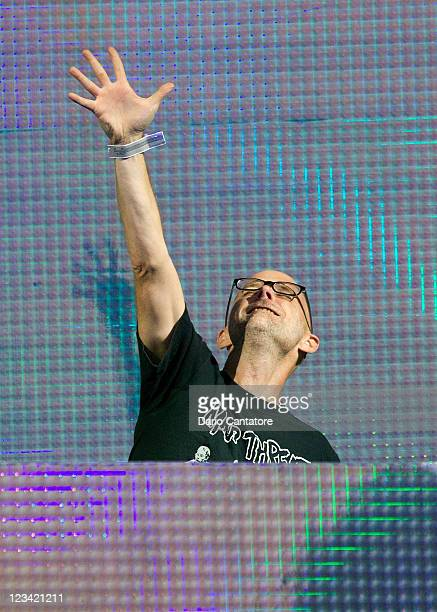 Moby performs during 2011 Electric Zoo at Randall's Island Park on September 2 2011 in New York City