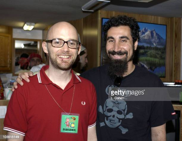 Moby Serj Tankian from System of a Down during 10th Annual KROQ Weenie Roast at Verizon Amphitheater in Irvine California United States