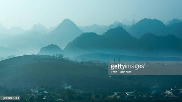 moc chau plateau - vietnam - travel destination - son la province stock pictures, royalty-free photos & images