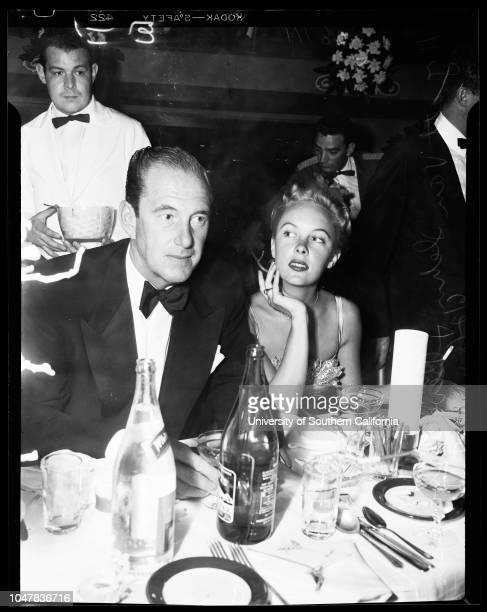 Mocambo Party for Mr and Mrs C Ray Gilliland 2 June 1954 Warden WoolardJon HallMr and Mrs C Ray GillilandLinda DansonHyatt Von DehnBeverly...