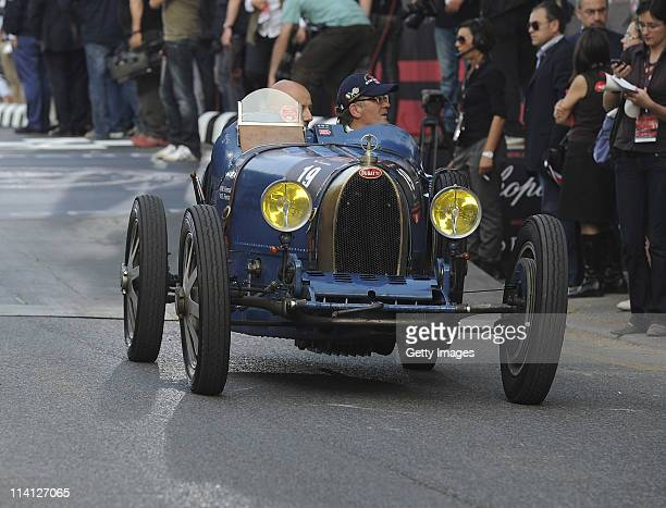 Mocari Giovanni and Rossella Labate in action during Mille Miglia on May 12 2011 in Brescia Italy