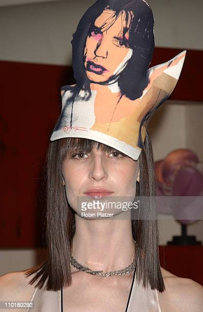 Mocel Erin O'connor during Philip Treacy Shows His Spring 2003 Hat Collection at Bergdorf's at Bergdorf Goodman in New York City, NY, United States.