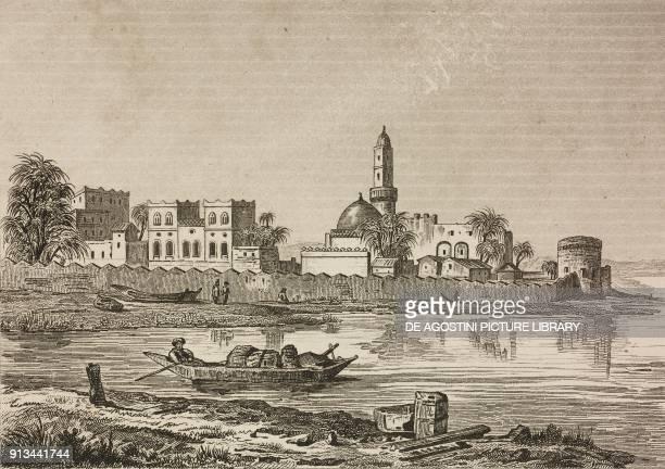 Mocha Yemen engraving by Fleury and Blondeau from Arabie by Noel Desvergers avec une carte de l'Arabie et note by Jomard L'Univers pittoresque...
