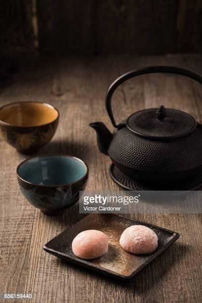 Mochi and green tea