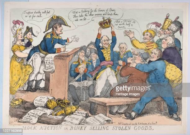 Mock Auction or Boney Selling Stolen Goods December 25 1813 Artist Thomas Rowlandson