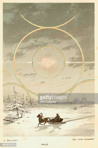 Mock Sun with sunbows and halo observed from the Arctic Circle 1873 This phenomenon is caused by atmospheric refraction From The Atmosphere by...
