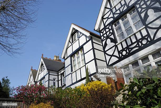 Mock Tudor houses in Muswell Hill Road