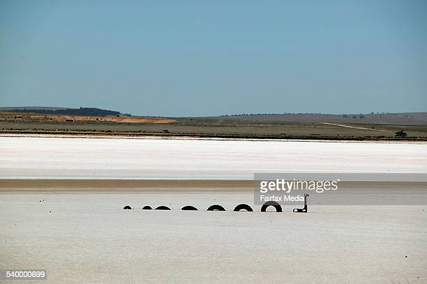 A mock up of the Loch Ness monster near Port Augusta in the Flinders Ranges South Australia 2 May 2006 SHD Picture by JACKY GHOSSEIN