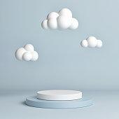 Mock up pedestal, abstract winner podium geometry concept