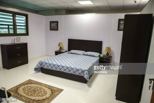A mockup bedroom is seen at the Crime Scene and Death Scene Investigations department at the Punjab Forensic Science Agency in Lahore Pakistan on...