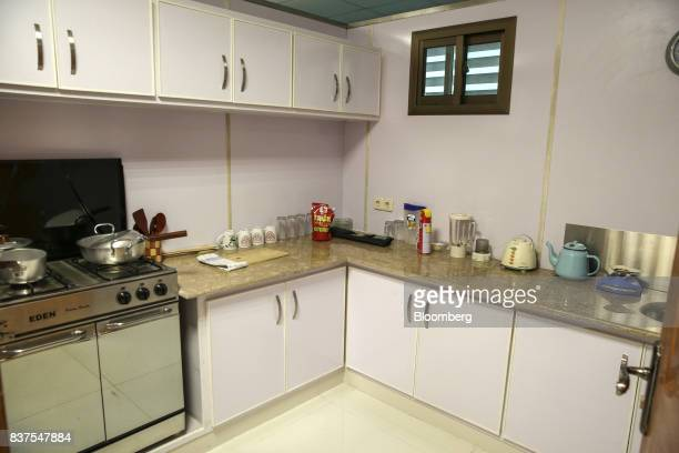 A mockup of a kitchen is seen at the Crime Scene and Death Scene Investigations department at the Punjab Forensic Science Agency in Lahore Pakistan...
