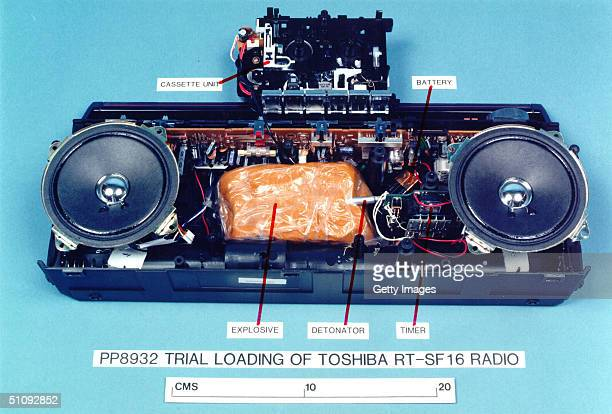 MockUp Of The ExplosivesLoaded Toshiba Cassette Recorder Which Blew Up Pan Am Flight 103 Over Lockerbie In 1988 Is On Display January 31 2001 In...