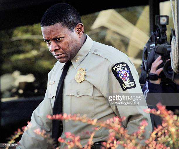 SNIPER Moco Police chief Charles Moose and other law enforcement officials hold a press conference at their command center in Rockville to deliver a...