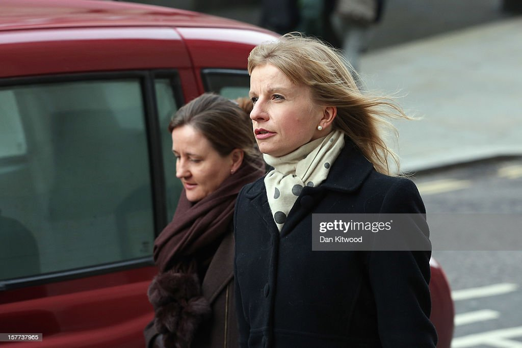 MoD employee Bettina Jordan-Barber arrives at The Old Bailey on December 6, 2012 in London, England. Rebekah Brooks, Andy Coulson, Clive Goodman, John Kay and MoD employee Bettina Jordan-Barber have been charged as part of 'Operation Elveden,' the Metropolitan Police's investigation into corrupt payments to police and public officials. They all appeared today at the Old Bailey.