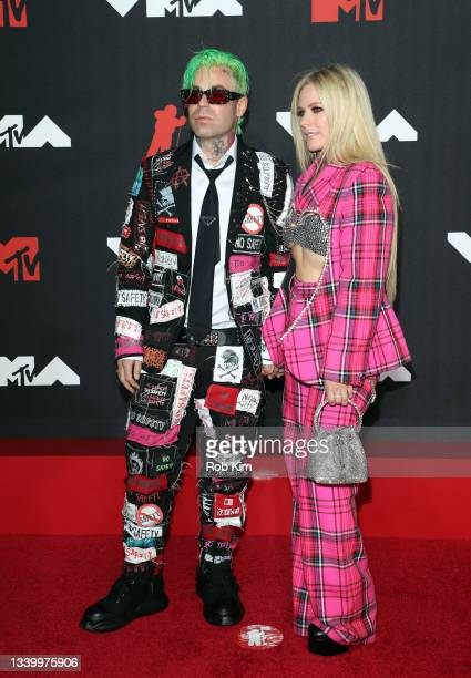 Mod Sun and Avril Lavigne attend the 2021 MTV Video Music Awards at Barclays Center on September 12, 2021 in the Brooklyn borough of New York City.