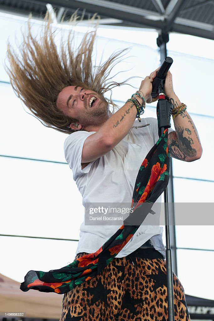 Mod Sun performs on stage during Warped Tour at Marcus Amphitheatre on August 1, 2012 in Milwaukee, United States.