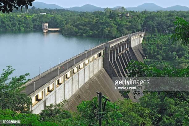 modaksagar dam on modaksagar lake, bombay, mumbai, maharashtra, india - maharashtra stock pictures, royalty-free photos & images