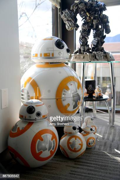 Modals of StarWars's BB8 at the Sphero campus in Boulder Colorado on December 1 2017 Sphero specializes in connected robotic toys