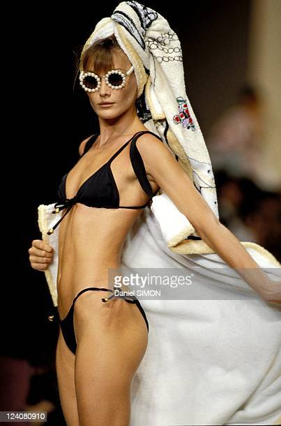 Mode Chanel Swim suits in Paris France in October 1993 Carla Bruni
