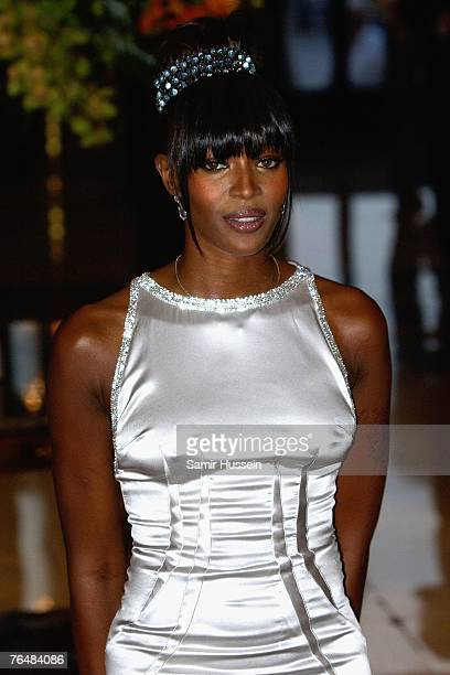 Model 2Naomi Campbell arrives at the 'Unite For A Better World Gala Dinner' on September 2 2007 at the Hotel de Paris in Monte Carlo Monaco The gala...