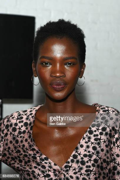 Model Aamito Lagum attends the Hellessy fashion show during New York Fashion Week at Highline Stages on February 10 2017 in New York City