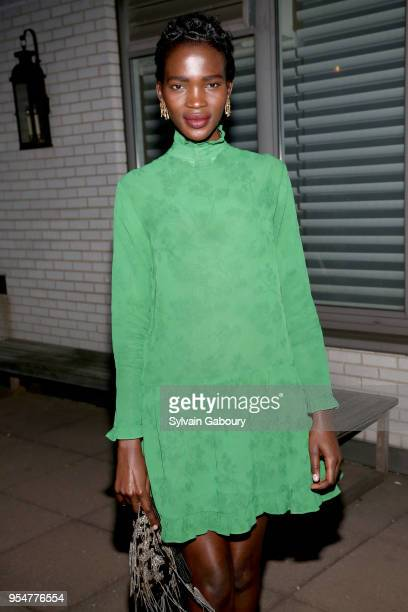 Model Aamito Lagum attends the Wells of Life Fundraiser Celebration at the Christopher Peacock Showroom on May 4 2018 in New York City