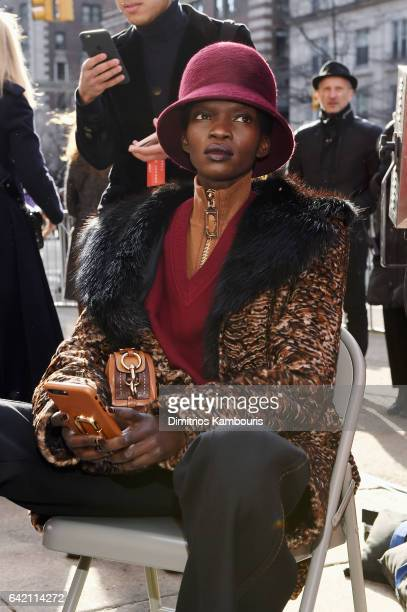 Model Aamito Lagum walks the runway for the Marc Jacobs Fall 2017 Show at Park Avenue Armory on February 16 2017 in New York City