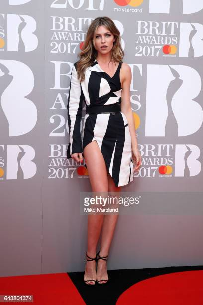 Model Abbey Clancy attends The BRIT Awards 2017 at The O2 Arena on February 22 2017 in London England