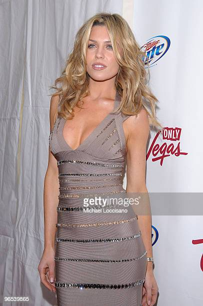 Model Abbey Clancy attends the Sports Illustrated Swimsuit 24/7 New York Launch Party at Provocateur at The Hotel Gansevoort on February 9 2010 in...
