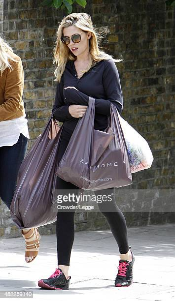 Model Abbey Clancy is seen out and about on July 29 2015 in London England