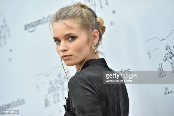 Model Abbey Lee Kershaw arrives at Amazon Studios premiere of 'Don't Worry He Won't Get Far on Foot' at ArcLight Hollywood on July 11 2018 in...