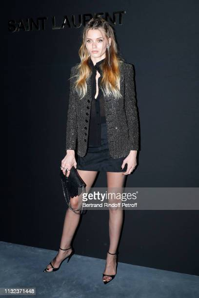 Model Abbey Lee Kershaw attends the Saint Laurent show as part of the Paris Fashion Week Womenswear Fall/Winter 2019/2020 on February 26 2019 in...