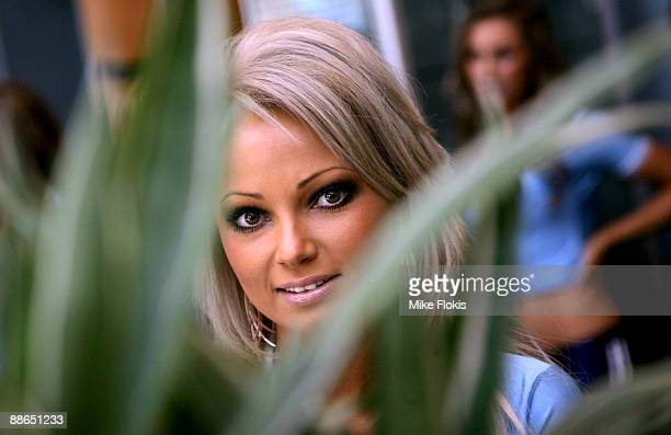 Model Abby Dowse poses during the 'Face of Origin' competition at Star City on June 24 2009 in Sydney Australia