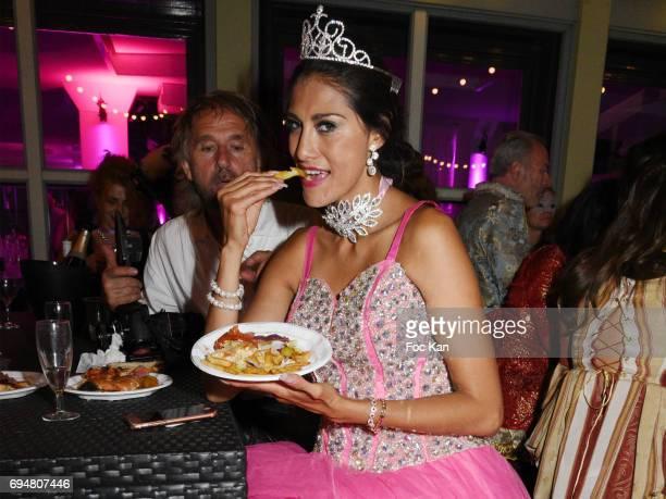 Model Abigail Lopez attends 'Bal des Princesses 2017' at Chalet du Lac on June 10 2017 in Paris France